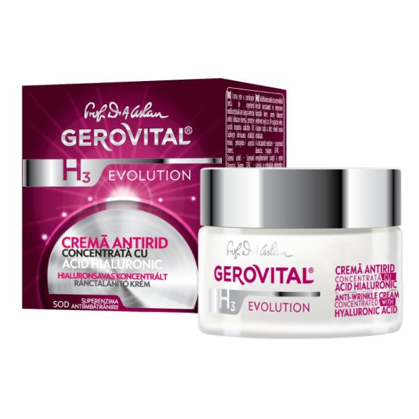 ANTI-WRINKLE CREAM CONCENTRATED WITH HYALURONIC ACID (3%)